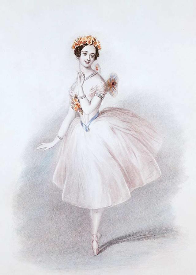 SYLPHIDE MARIE TAGLIONI illustration par Jean Schneitzhoeffer