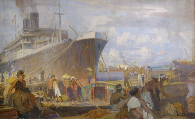 LOINTAINS CHARLES DE FOUQUERAY LE PORT DE SAIGON