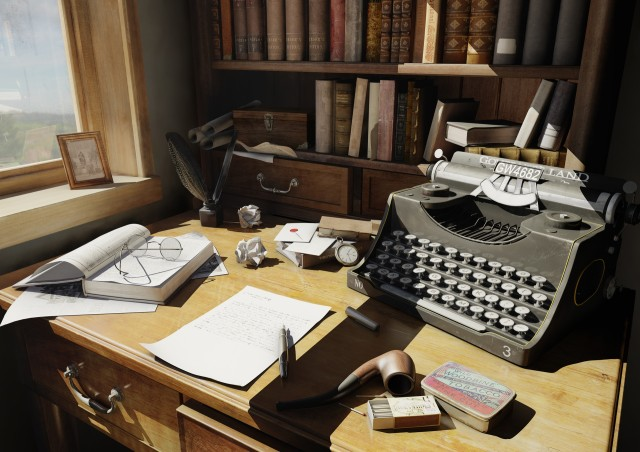 bureau écrivain