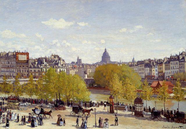 MONET ET ARCHITECTURE Quai_du_Louvre_1867
