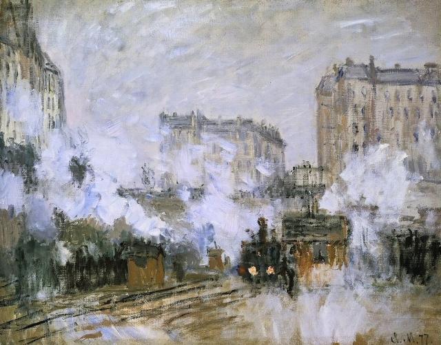 MONET LA GARE ST LAZARE 1877 ARRIVEE D UN TRAIN EXTERIEUR