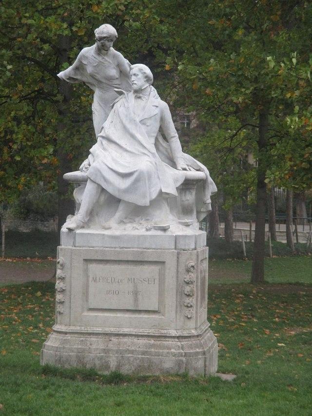 poete et sa muse parc monceau musset