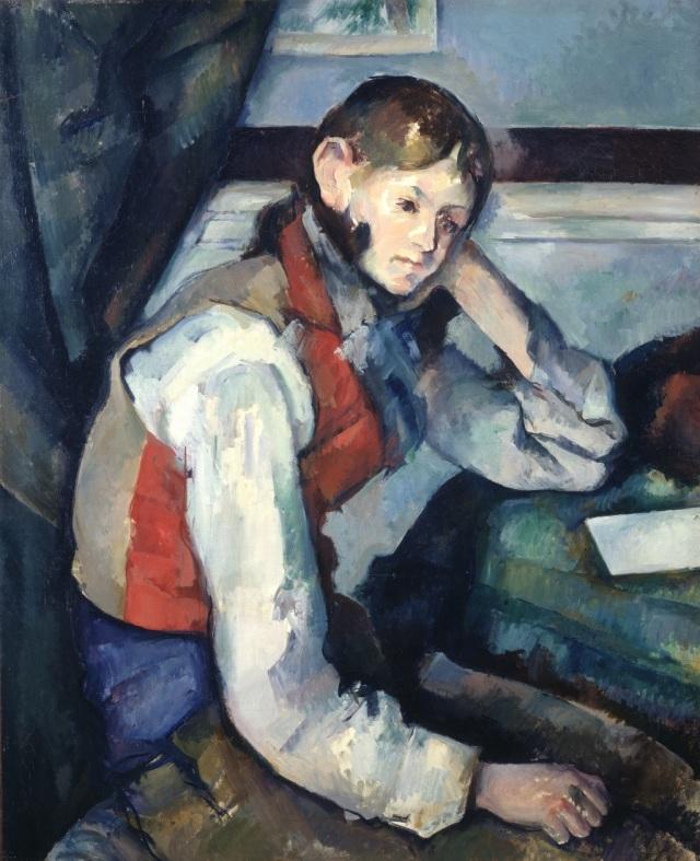 BUHRLE Cézanne gilet rouge.jpg