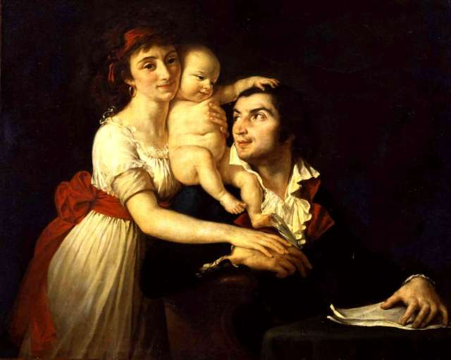 DESMOULINS atelier Jacques Louis DAVID sa femme et leur fils Horace musée national château de versaillles
