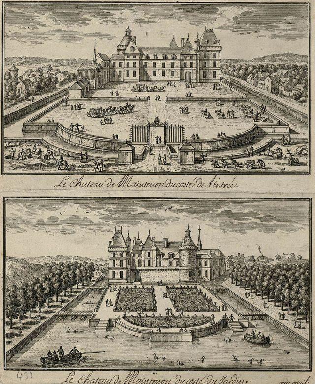 MAINTENON château gravure du XVIIIe