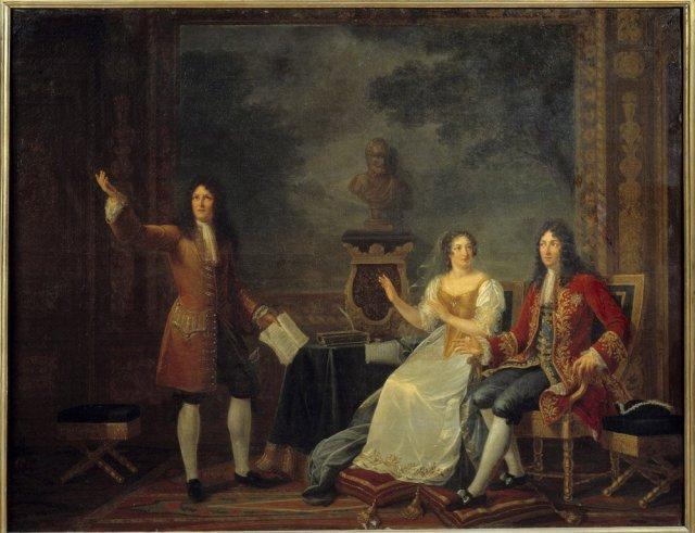 MAINTENON racine lisant Athalie devant Mme de MAINTENON et Louis XIV 1819, de Julie Phlipaut