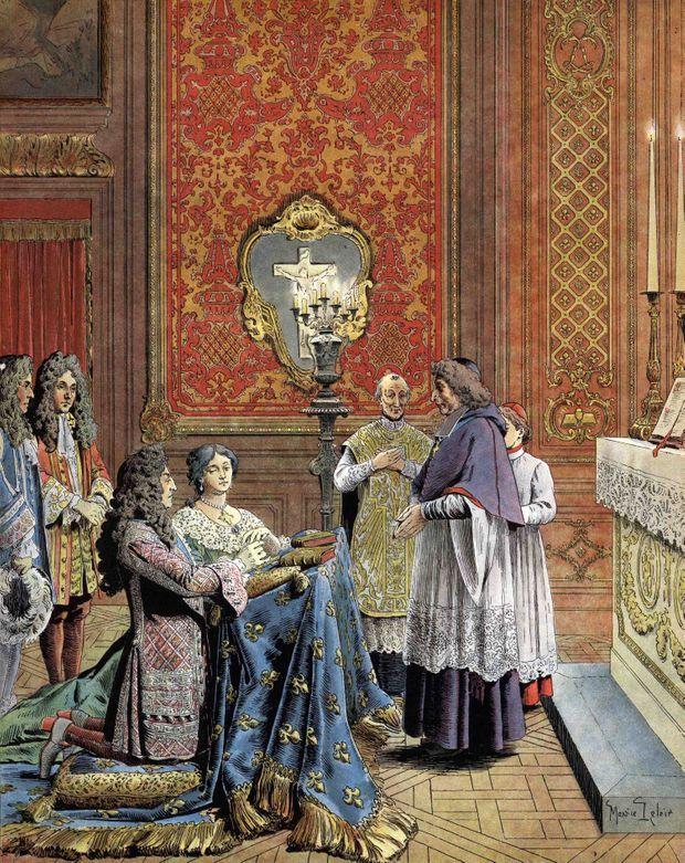 MARIAGE Louis XIV Mme de Maintenon.jpg