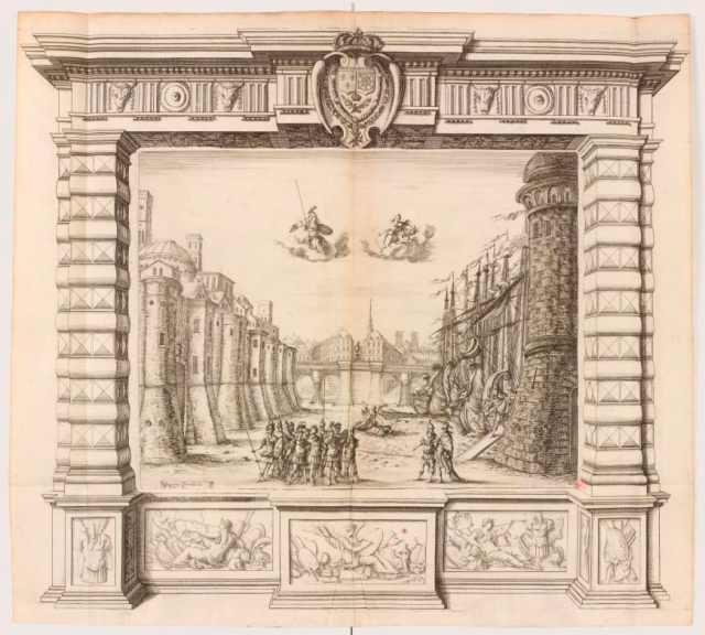OPERA Noël Cochin ou à Nicolas Cochin d'après Giacomo Torelli, Décor du prologue de La Finta pazza de Sacrati, 1645BNF