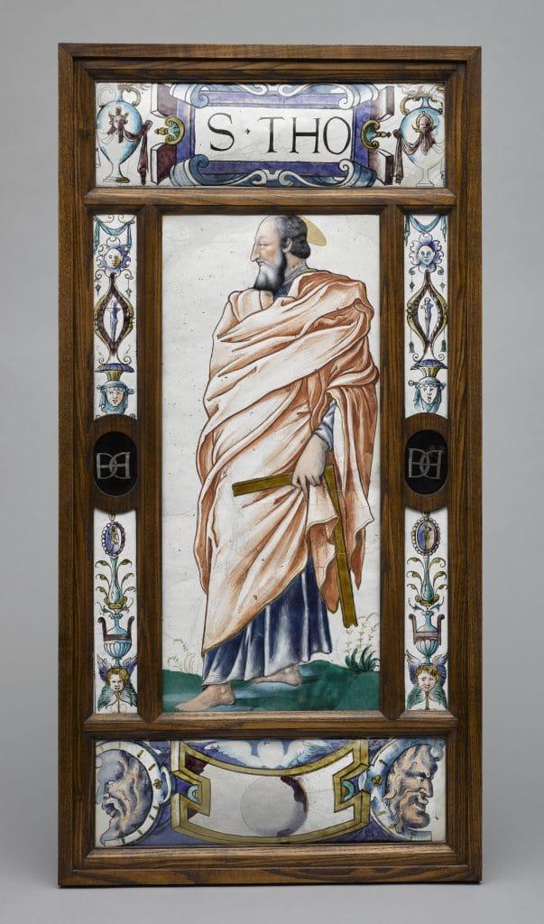 CHAMBORD St Thomas patron des architectes sous les traits de François Ier émail Louvre