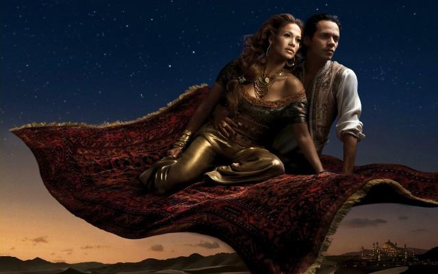 LEIBOVITZ Jennifer Lopez et Marc Antony Aladin