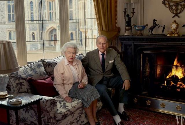 LEIBOVITZ Prince Philip et reine Elisabeth II