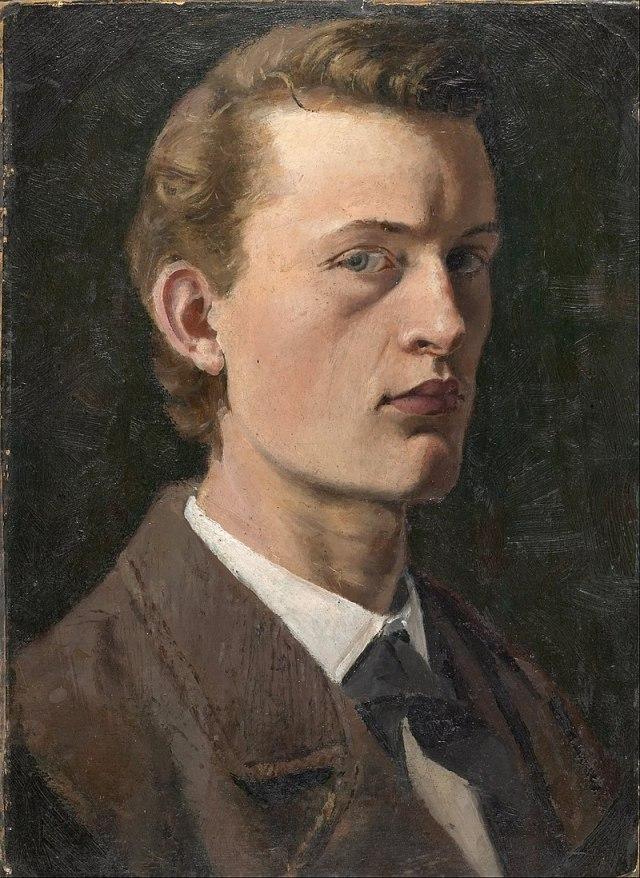 MUNCH 1882 autoportrait musée Munch Oslo