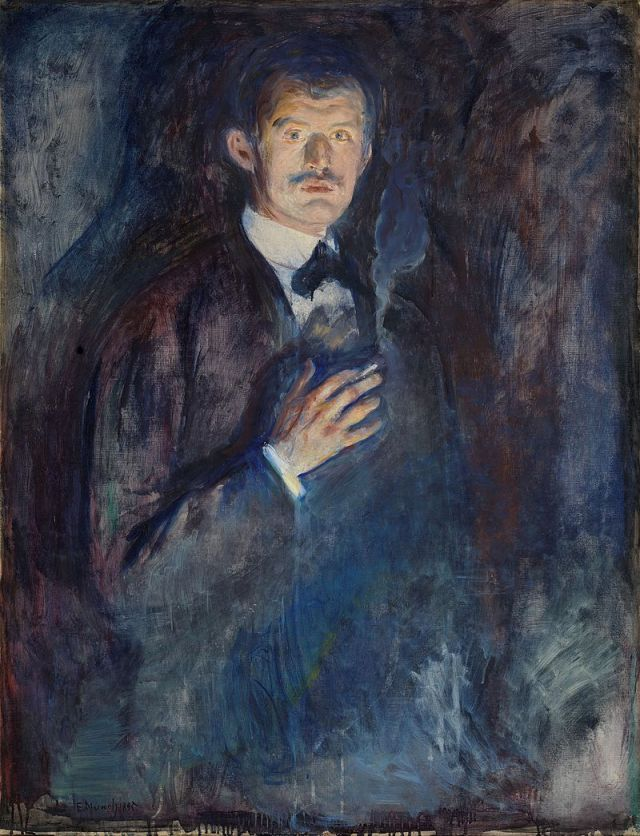 MUNCH 1895 autoportrait à la cigarette galerie nationale d'Oslo
