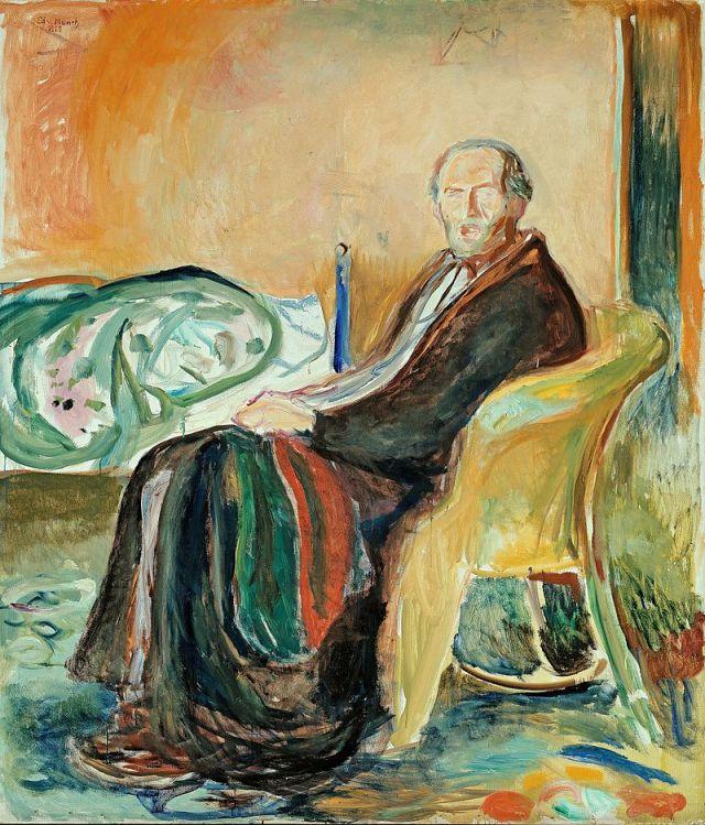 MUNCH 1919 Autoportrait à la grippe espagnole