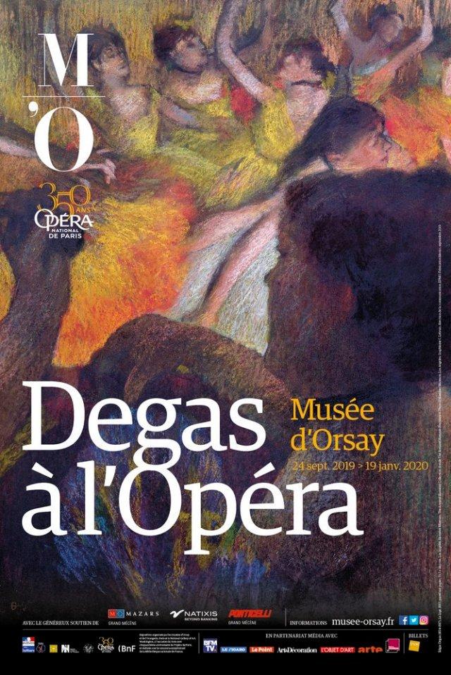 DEGAS à l'Opéra affiche