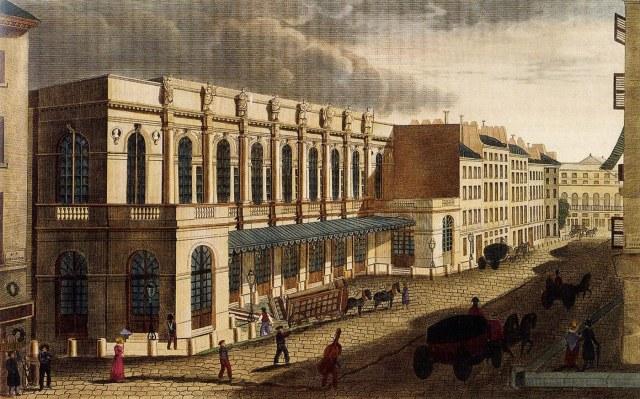 OPERA rue Le Peletier en 1822 par Courvoisier.jpg