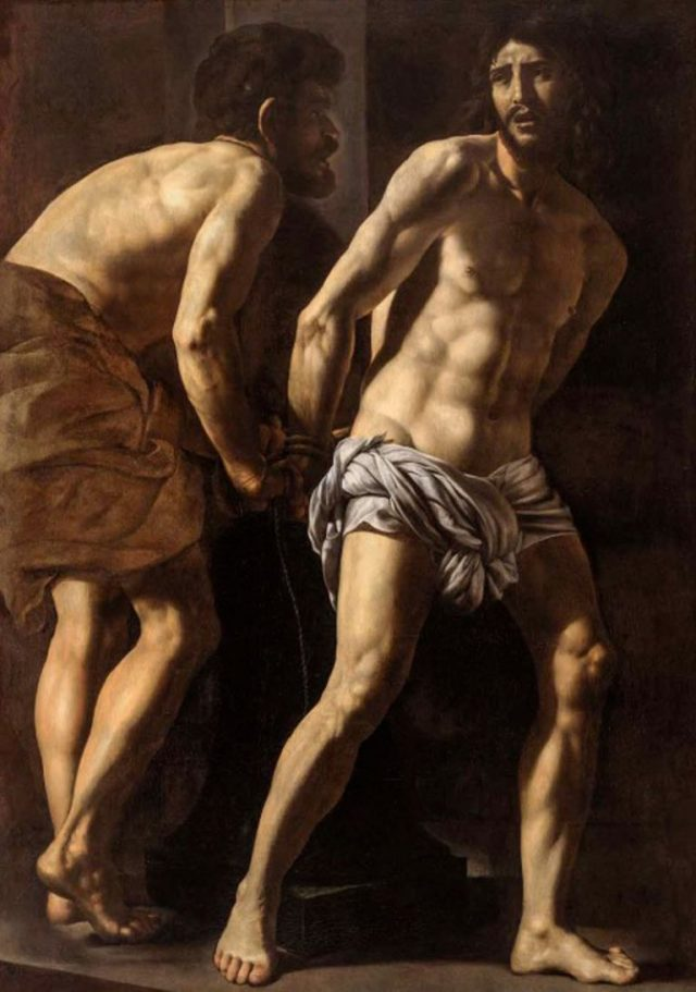 GIORDANO Le Christ à la colonne par Battistello Caracciolo
