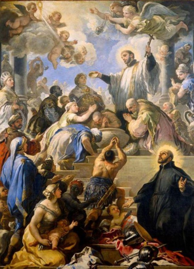 GIORDANO Saint François baptisant les indiens