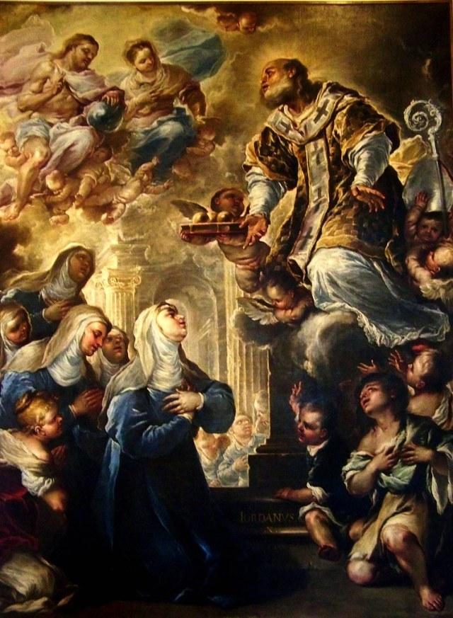 GIORDANO Saint Nicolas en gloire