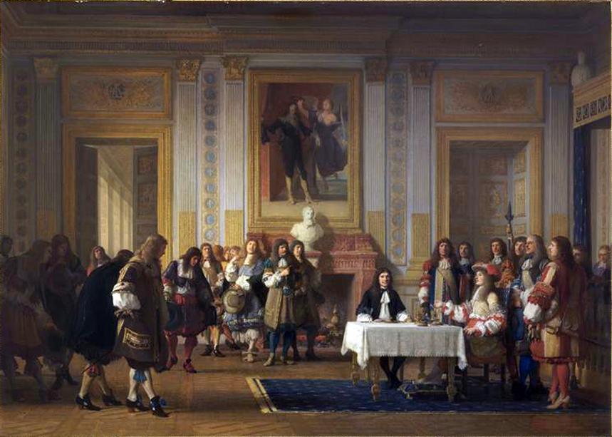 MOLIERE reçu par Louis XIV.jpg