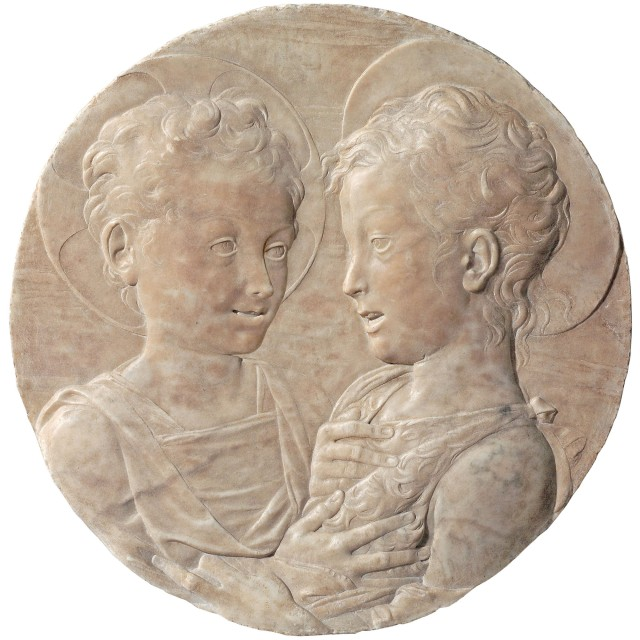 Marquise Desiderio da Settignano 1428 1464 Le Christ et saint Jean-Baptiste enfants Paris musée du Louvre