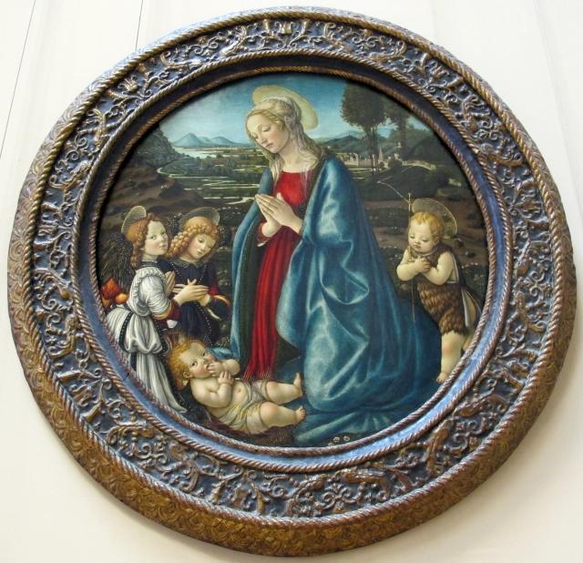Marquise Vierge adorant l'enfant