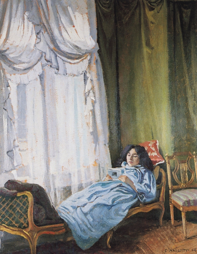 VALLOTTON Femme couchée lisant