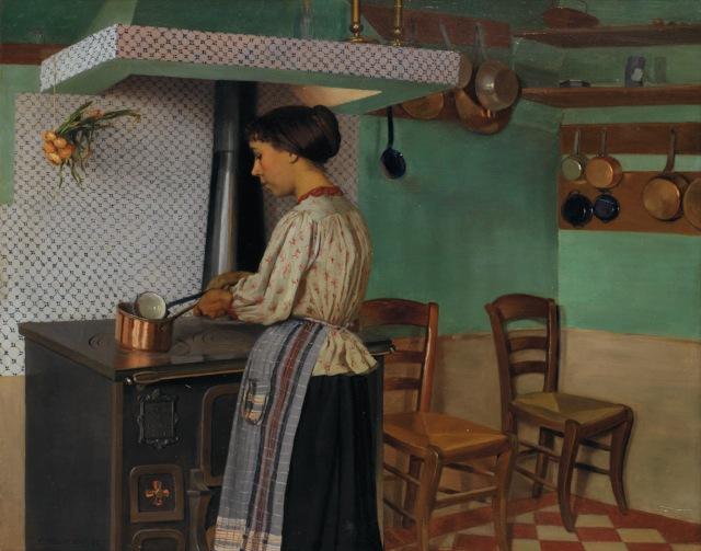 VALLOTTON la cuisinière 1892 Hélène Chatenay
