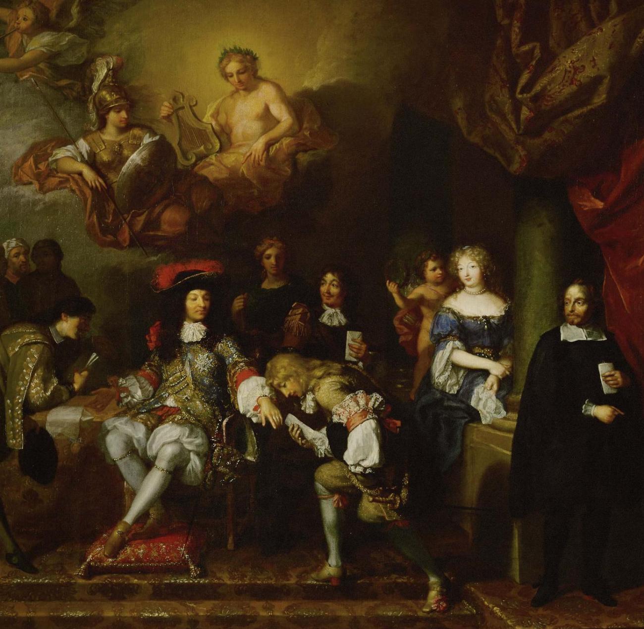 LOUIS XIV accordant des audiences