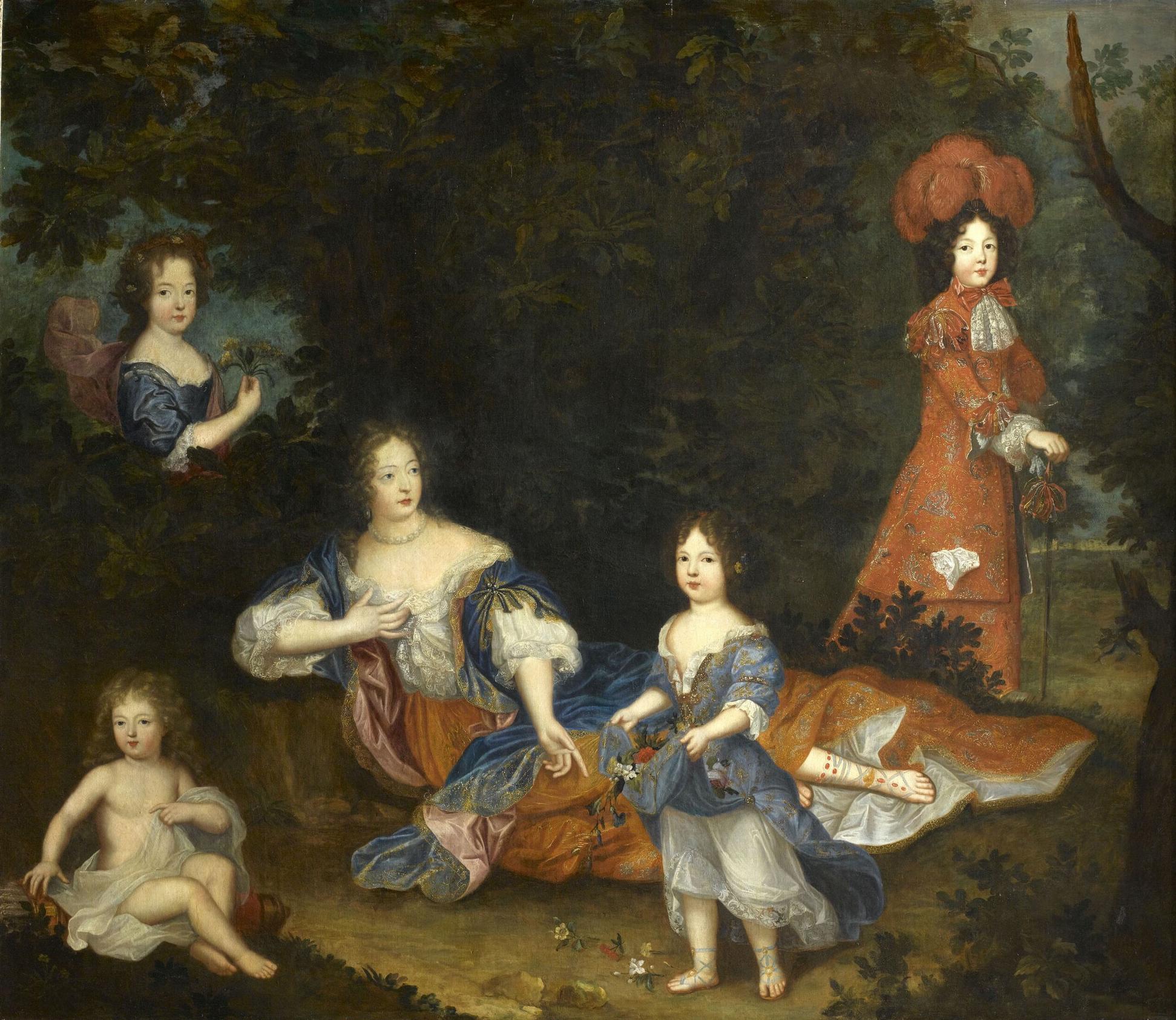 MARQUISE de Montespan et ses enfants d'après Pierre MIGNARD