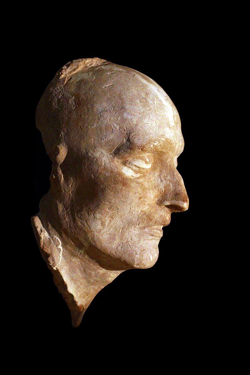Masque mortuaire de Napoléon exemplaire original du musée de l'Armée à Paris