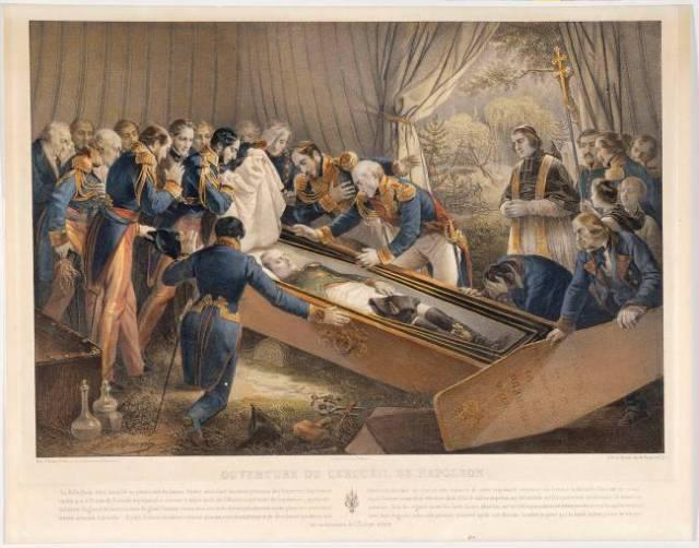 NAPOLEON Nicolas Eustache MAURIN Ouverture du cercueil de Napoléon dans la vallée du Tombeau à Sainte-Hélène le 15 octobre 1840