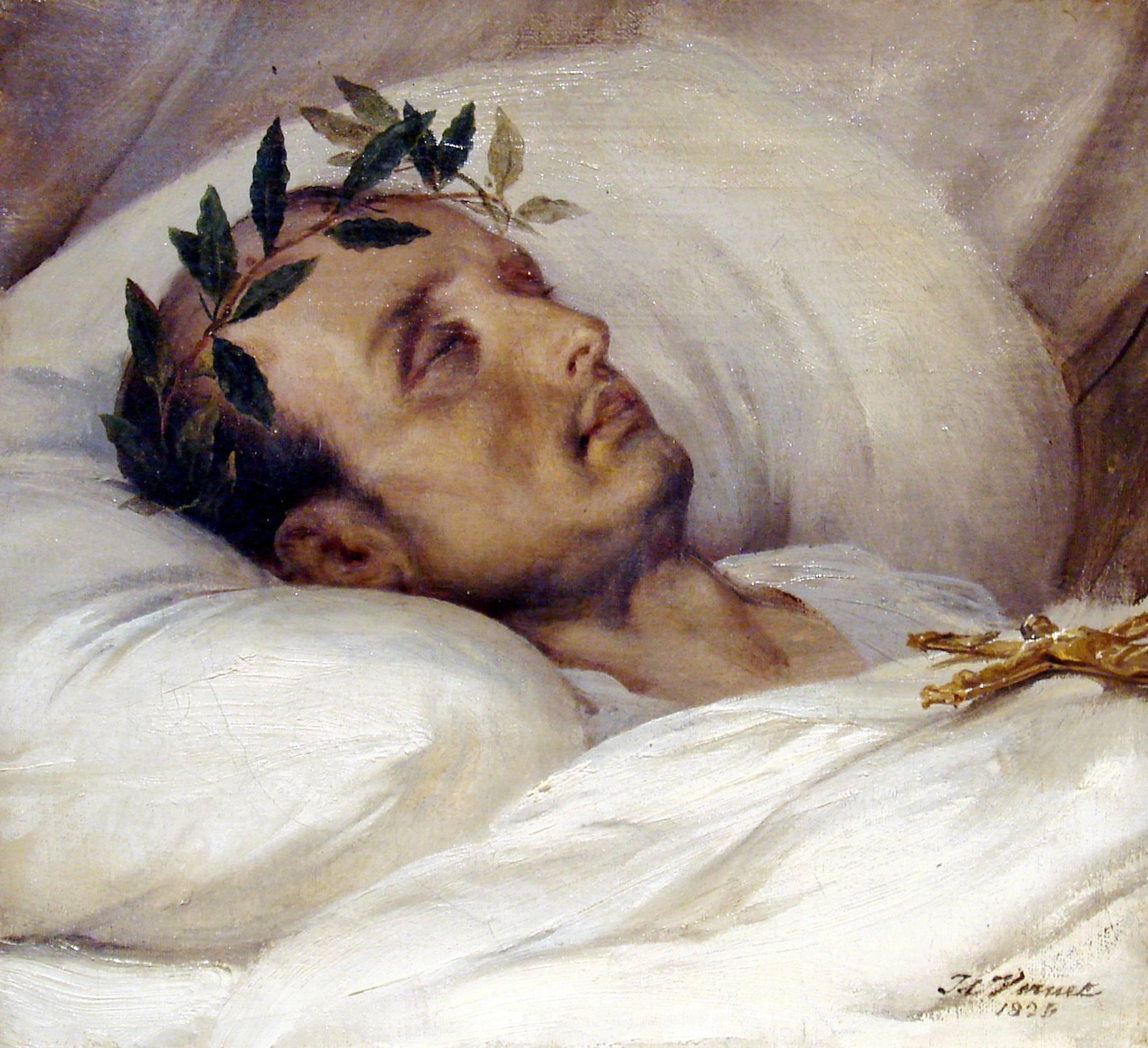 NAPOLEON sur son lit de mort par Horace VERNET