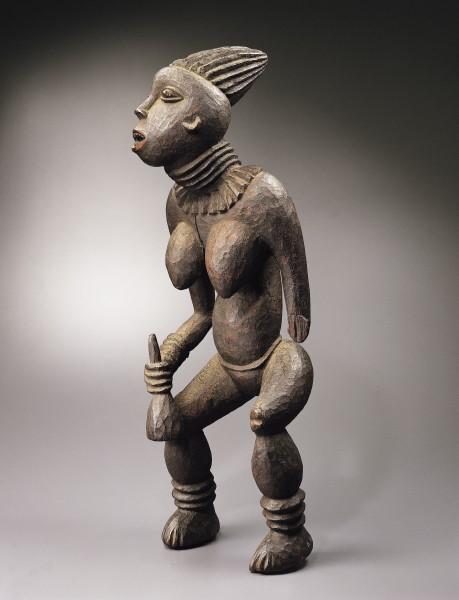 RUBINSTEIN Figure féminine du Lefem Bamileke Chefferie Bangwa Cameroun, XIXe siecle