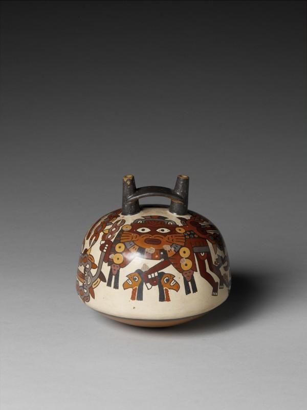 RUBINSTEIN poterie funéraire représentantun démon Amérique du sud 200 avant JC - 600 après JC musée branly