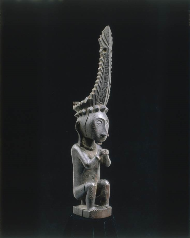 RUBINSTEIN statue d'ancêtre Adu Zatua Ile de Nias XIXe siècle Musée quai Branly