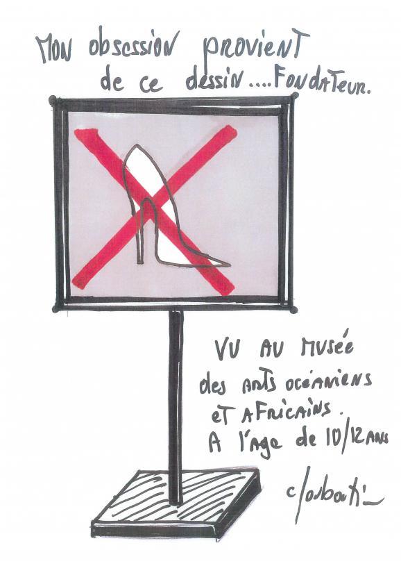 panneau signalétique Louboutin