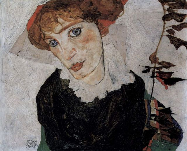 SCHIELE portrait de Wally 1912