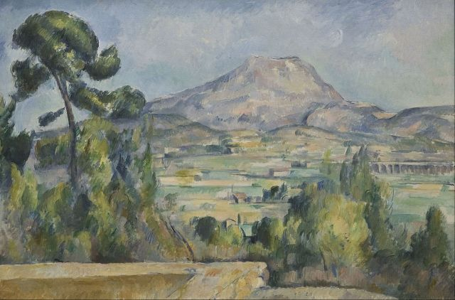 CEZANNE montagne Sainte Victoire vers 1880