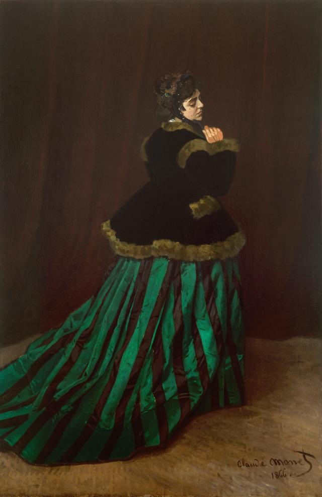 MONET Camille la robe verte