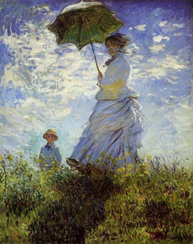 MONET Mme Monet et son fils