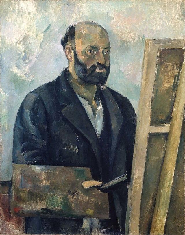 CEZANNE autoportrait à la palette