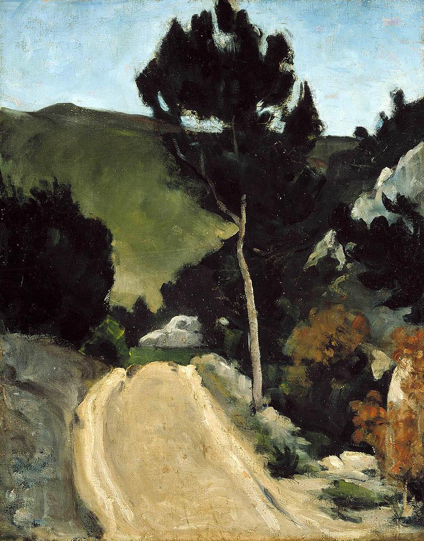 CEZANNE La route tournante en Provence