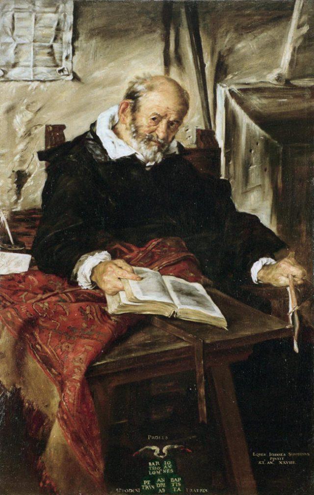 CEZANNE portrait du pière de l'artiste Giovanni SERODINE