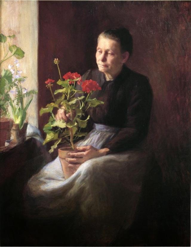 geranium Caroline LORD la femme au géranium