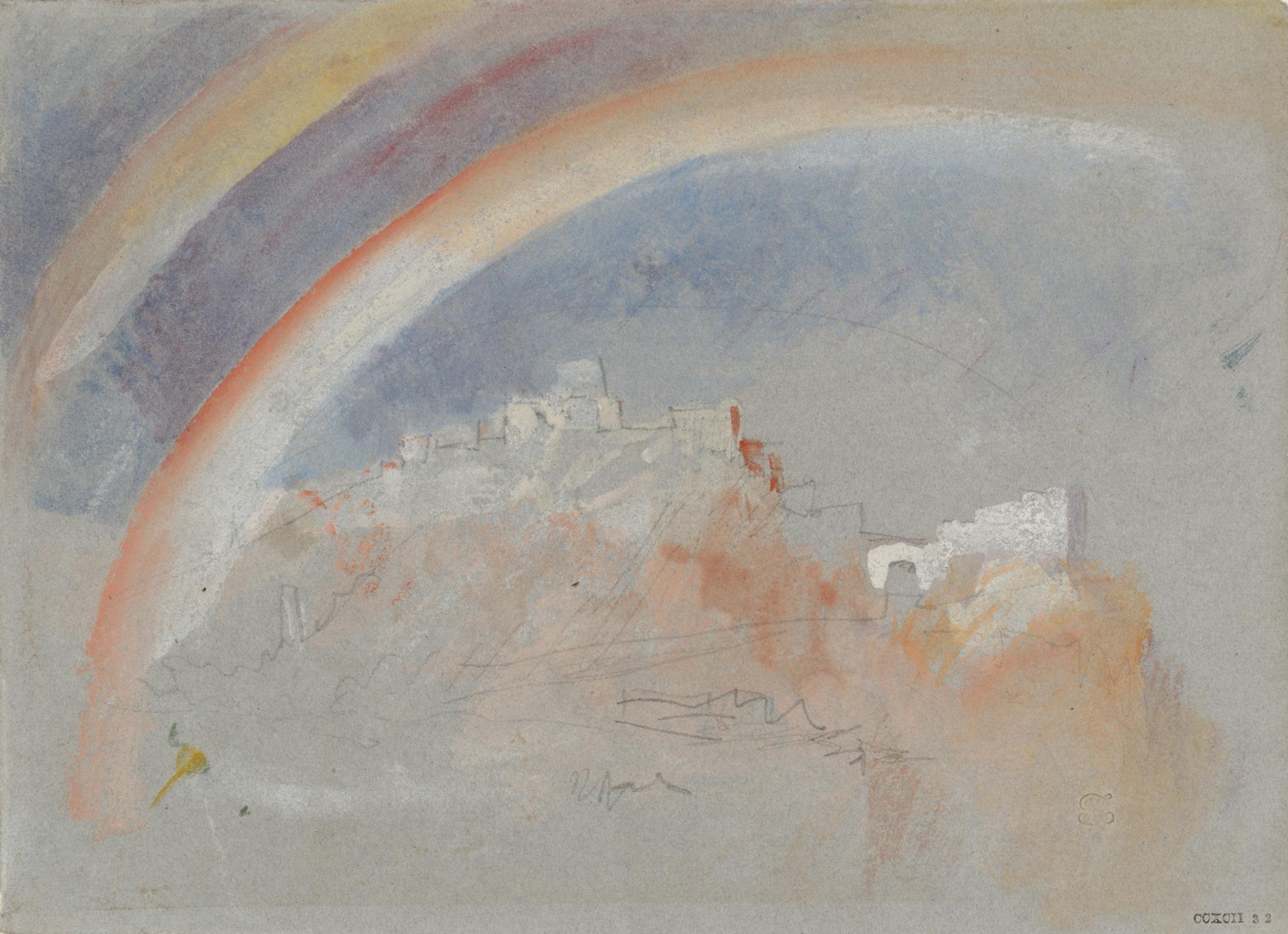 TURNER Ehrenbreitstein avec un arc-en-ciel 1840 graphite, aquarelle et gouache sur papier