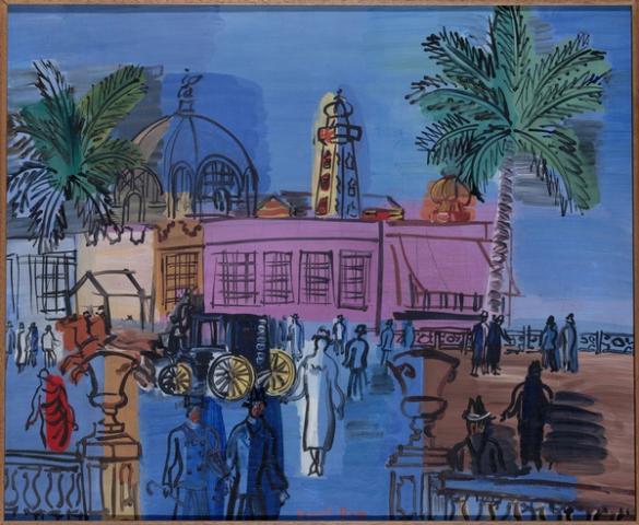 ATELIER la jetée promenade à Nice 1926 musée d'Art Moderne à Paris Raoul DUFY