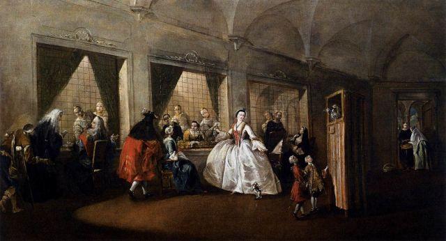 CASANOVA Parloir du couvent San Zaccharia 1750 60 Francesco GUARDI