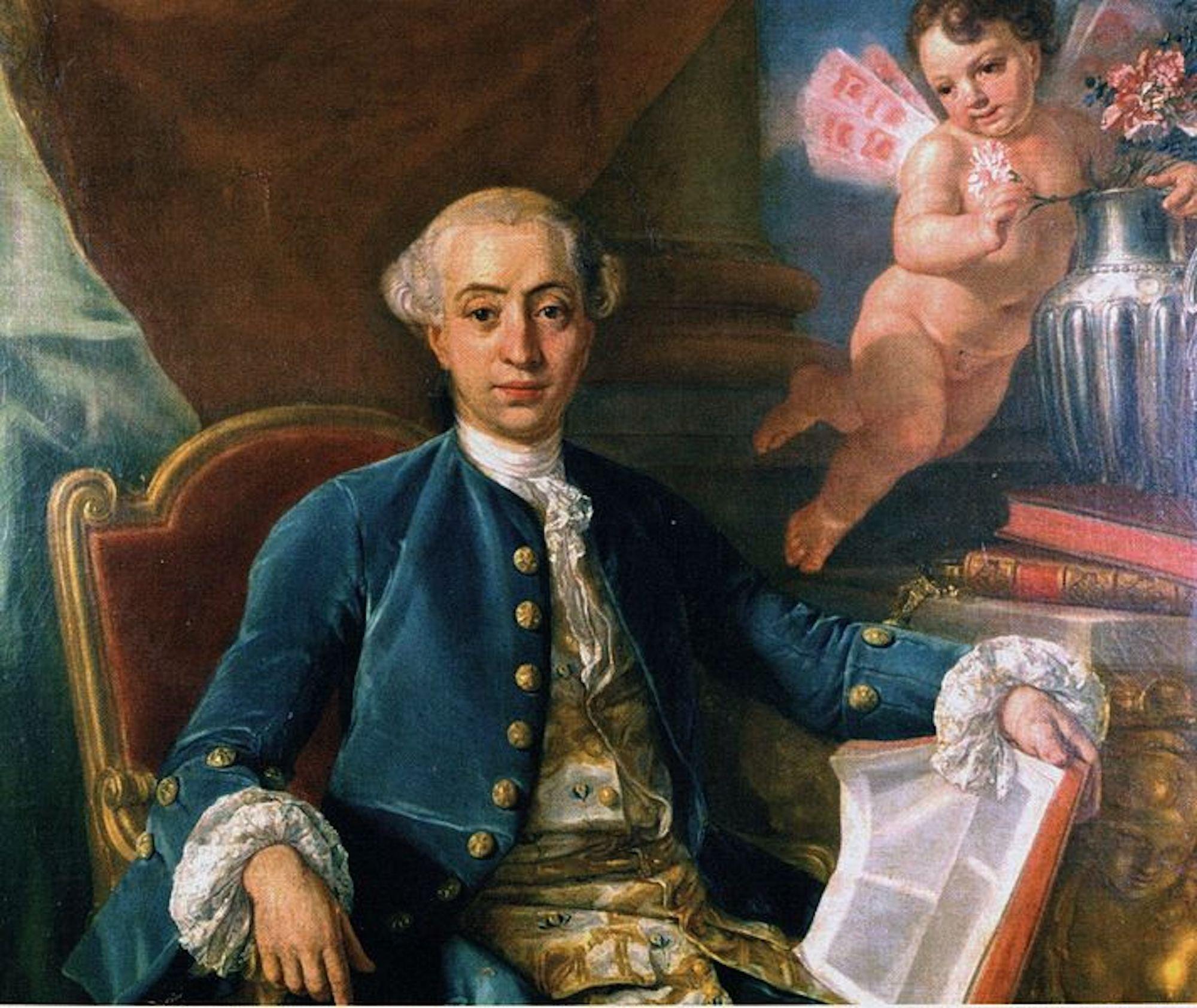 CASANOVA Portrait de Giacomo CASANOVA 1760 Raphaël MENGS