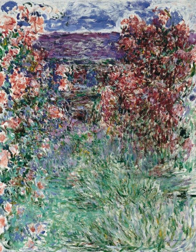 JARDIN Monet 1925 la maison parmi les roses